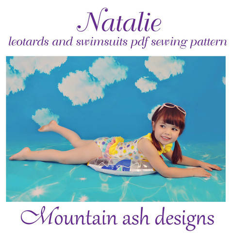Download Natalie Ruffle Back Swimsuit and Leotard in Girls Sizes 2-14 immediately at Makerist