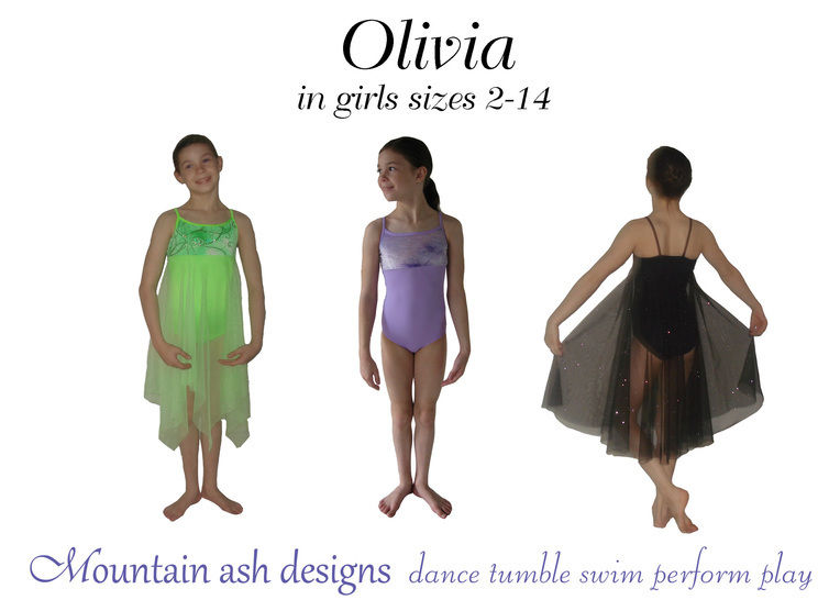 Download Olivia Ballet Costume and Leotard Sewing Pattern in Girls Sizes 2-14 - Sewing Patterns immediately at Makerist