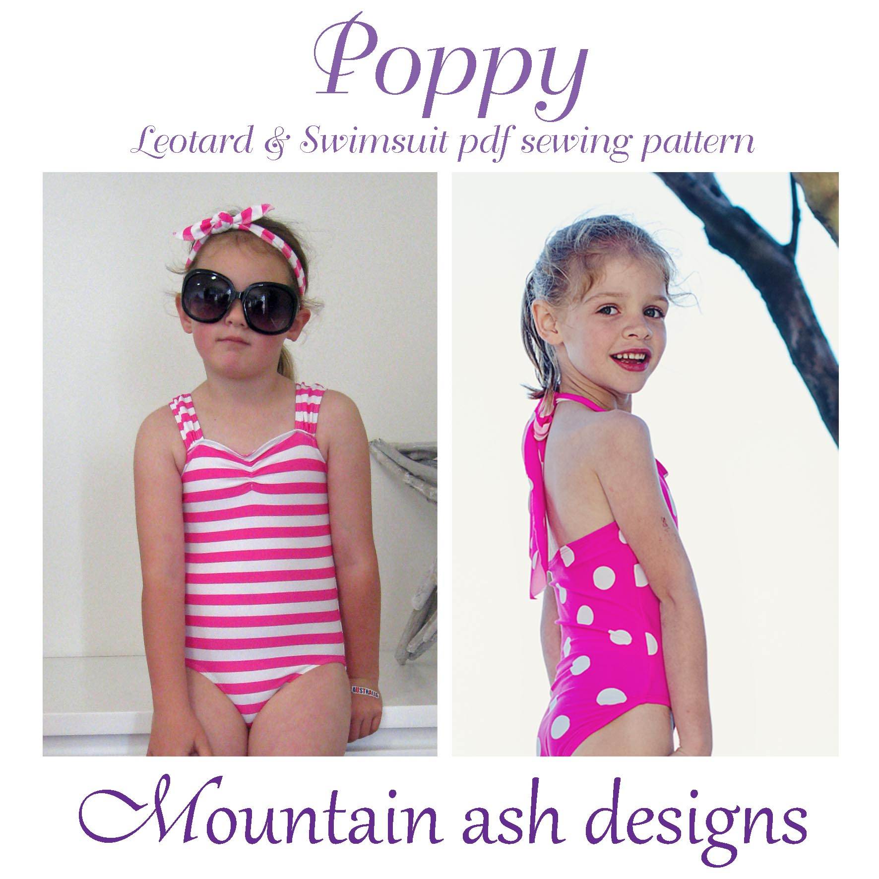 Poppy Swimsuit and Leotard Sewing Pattern