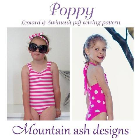Download Poppy Swimsuit and Leotard Sewing Pattern in Girls Sizes 2-14 immediately at Makerist