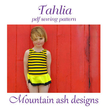 Download Tahlia Swimsuit and Dance Costume in Girls Sizes 2-14 - Sewing Patterns immediately at Makerist