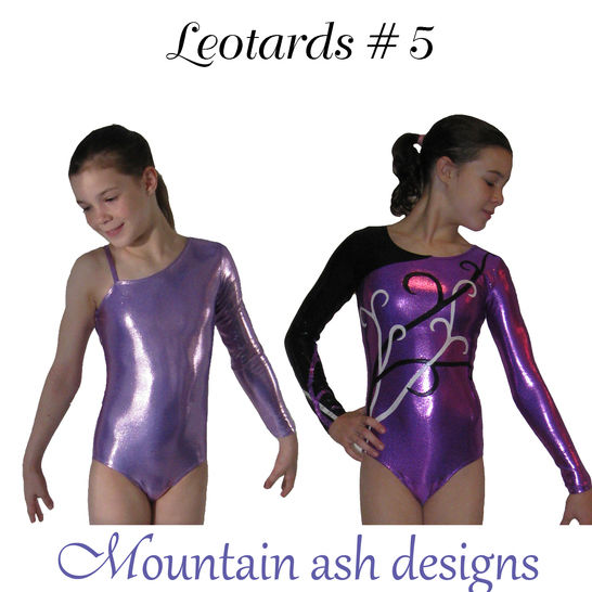 Leotards 5 Asymmetrical Neckline Sewing Pattern
