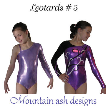 Download Leotards #5 Asymmetrical Neckline Sewing Pattern in Girls Sizes 2-14 - Sewing Patterns immediately at Makerist