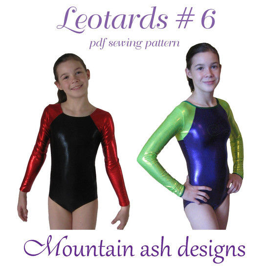Download Leotards #6 Raglan Sleeve Sewing Pattern in Girls Sizes 2-14 - Sewing Patterns immediately at Makerist
