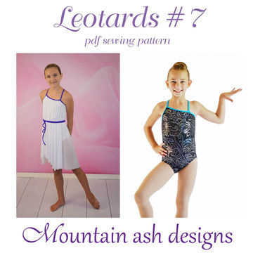 Download Leotards #7 Leotard and Dance Costume Sewing Pattern in Girls Sizes 2-14 - Sewing Patterns immediately at Makerist