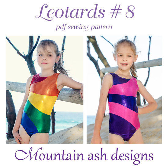 Download Leotards #8 Rainbow Leotard Sewing Pattern in Girls Sizes 2-14 - Sewing Patterns immediately at Makerist