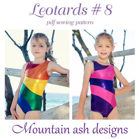 Download Leotards #8 Rainbow Leotard Sewing Pattern in Girls Sizes 2-14 immediately at Makerist