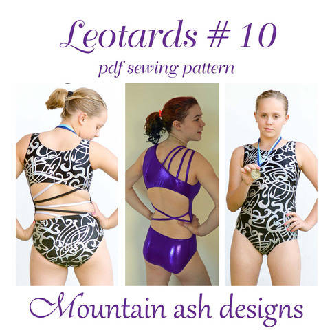 Download Leotards #10 Leotard and Swimsuit Sewing Pattern in Girls Sizes 2-14 immediately at Makerist