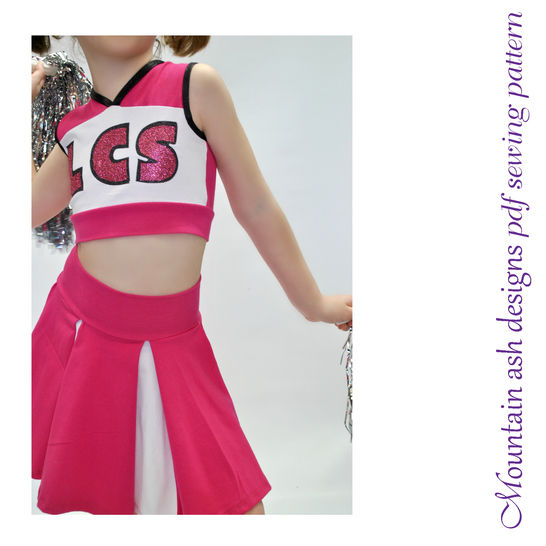 Download Cheer 1 Cheerleading Costume Sewing Pattern in Girls Sizes 2-14 - Sewing Patterns immediately at Makerist