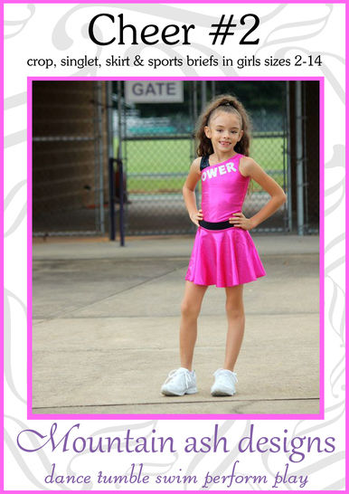 Download Cheer 2 Cheerleading Uniform Sewing Pattern in Girls Sizes 2-14 - Sewing Patterns immediately at Makerist