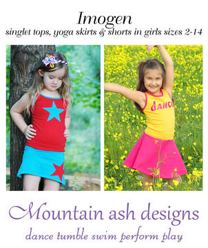 Download Imogen Tank, Skirt and Shorts Sewing Pattern in Girls Sizes 2-14 - Sewing Patterns immediately at Makerist