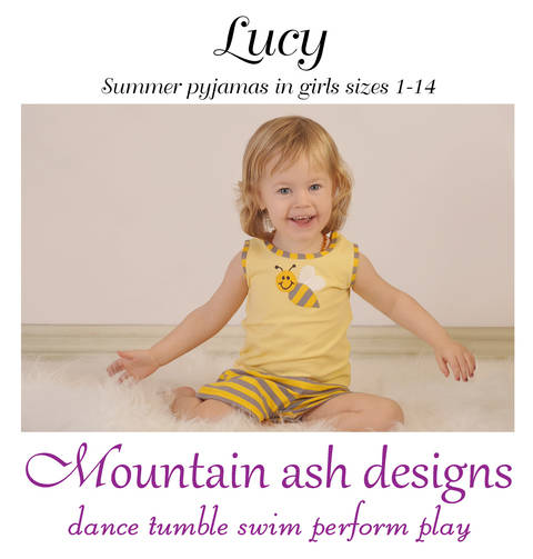 Download Lucy Summer Pyjamas Sewing Pattern in Girls Sizes 1-14 immediately at Makerist