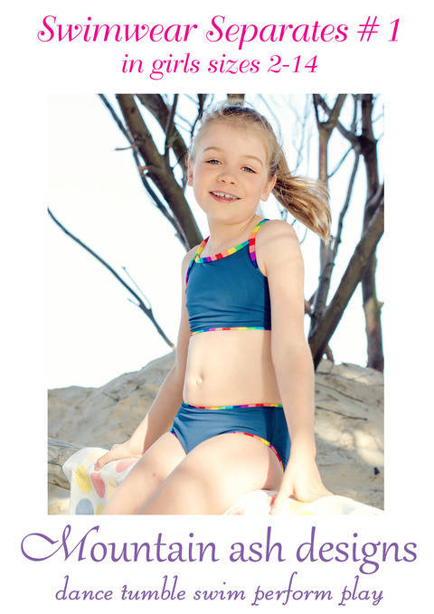 Download Swimwear Separates 1 Bikini Tankini Sewing Pattern in Girls Sizes 2-14 immediately at Makerist