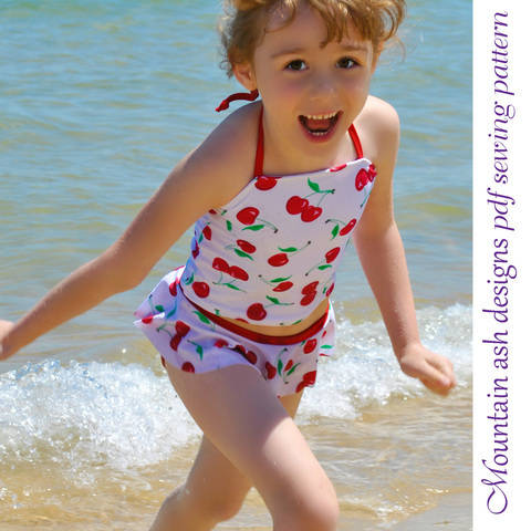 Download Swimwear Separates 2 Ruffle Tankini Swimsuit Sizes 2-14 immediately at Makerist