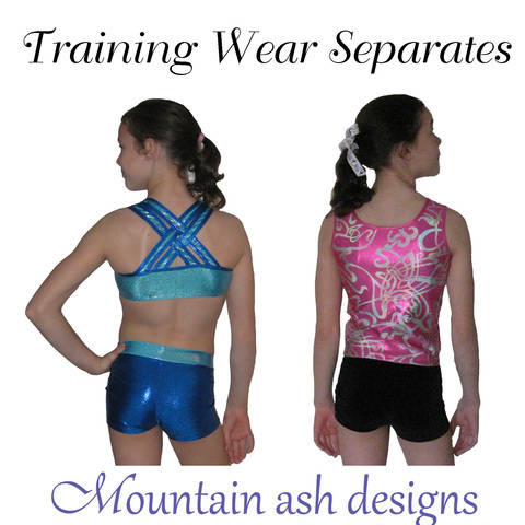 Download Training Wear Separates #3 Crop and Shorts in Girls Sizes 2-14 immediately at Makerist