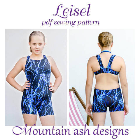 Download Leisel Swimsuit and Unitard Sewing Pattern in Girls Sizes 2-14 immediately at Makerist