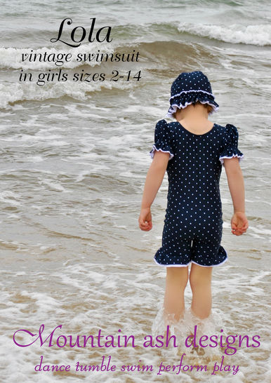 Download Lola Vintage Swimsuit and Unitard Sewing Pattern in Girls Sizes 2-14 - Sewing Patterns immediately at Makerist