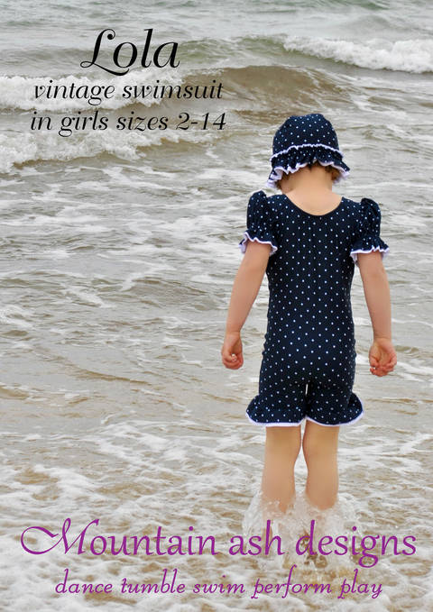Download Lola Vintage Swimsuit and Unitard Sewing Pattern in Girls Sizes 2-14 immediately at Makerist