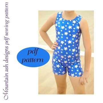 Download Matilda Unitard and Vintage Swimsuit Sewing Pattern in Girls Sizes 2-14 - Sewing Patterns immediately at Makerist