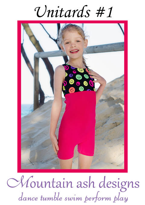 Download Unitards #1 Racer Back Biketard Sewing Pattern in Girls Sizes 2-14 immediately at Makerist