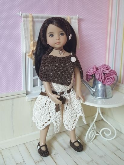 Download Sarah : crochet outfit for Little Darling Effner Doll - Crochet Patterns immediately at Makerist