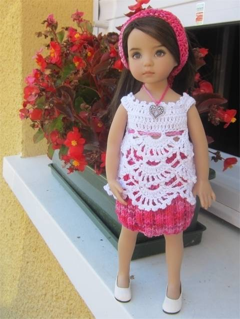 Download Begonia : crochet outfit for Little Darling Effner Doll immediately at Makerist