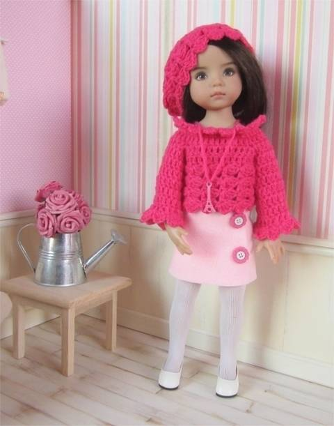 Download Paris : crochet outfit for Little Darling Effner Doll immediately at Makerist