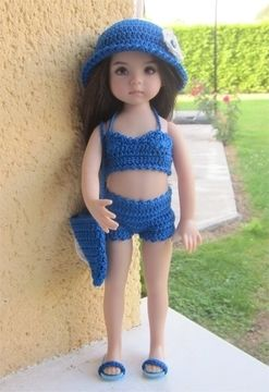 Download Lagoon : crochet outfit for Little Darling Effner Doll - Crochet Patterns immediately at Makerist
