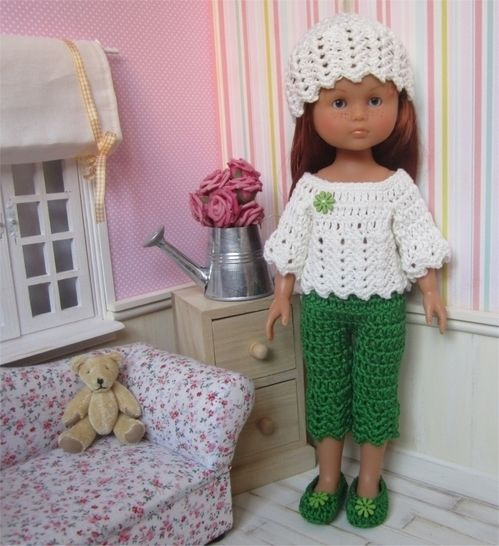 Download Spring : crochet outfit for 32-33cm doll - Crochet Patterns immediately at Makerist