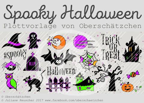 Plotterdatei Plottvorlage Spooky Halloween bei Makerist sofort runterladen
