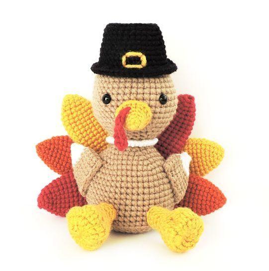 Download Amigurumi Thanksgiving Turkey - Crochet Pattern - Crochet Patterns immediately at Makerist