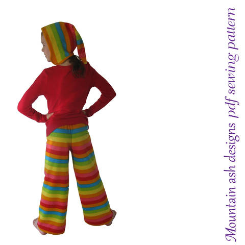 Download Allie Pixie Hat and Quick Easy Pants Sewing Pattern in Girls Sizes 1-14 immediately at Makerist