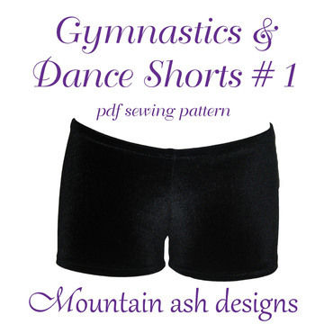 Download Gymnastics Dance Shorts 1 Sewing Pattern in Girls Sizes 2-14 - Sewing Patterns immediately at Makerist