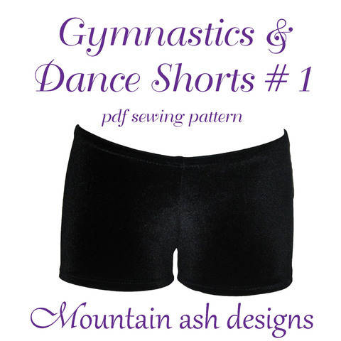 Download Gymnastics Dance Shorts 1 Sewing Pattern in Girls Sizes 2-14 immediately at Makerist