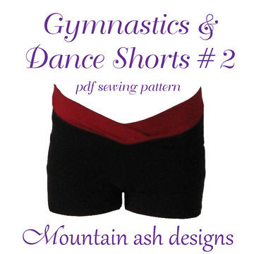 Download Gymnastics and Dance Shorts 2 Sewing Pattern in Girls Sizes 2-14 - Sewing Patterns immediately at Makerist
