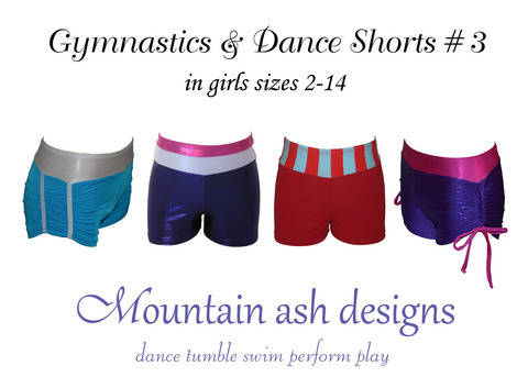 Download Gymnastics and Dance Shorts 3 Kids Sewing Pattern in Girls Sizes 2-14 immediately at Makerist