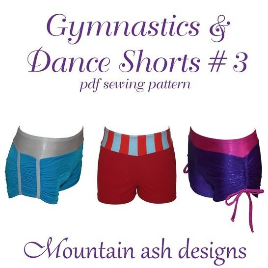 Download Gymnastics & Dance Shorts 3 in Ladies Sizes Sewing Pattern - Sewing Patterns immediately at Makerist