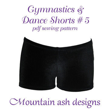 Download Gymnastics and Dance Shorts 5 Ladies Sewing Pattern - Sewing Patterns immediately at Makerist