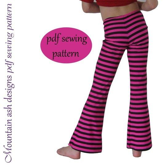 Download Leggings 2 Flared Leggings & Jazz Pants Sewing Pattern in Girls Sizes 2-14 - Sewing Patterns immediately at Makerist