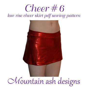 Download Cheer 6 Low Rise Cheerleading Skirt Sewing Pattern in Girls Sizes 2-14 - Sewing Patterns immediately at Makerist