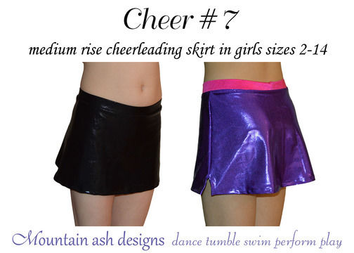 Download Cheer 7 Mid Rise Cheerleading Skirt in Girls Sizes 2-14 - Sewing Patterns immediately at Makerist