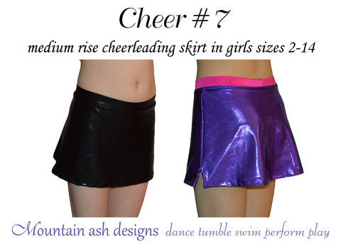 Download Cheer 7 Mid Rise Cheerleading Skirt in Girls Sizes 2-14 immediately at Makerist