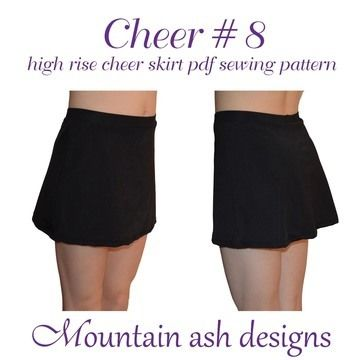 Download Cheer 8 High Rise Cheerleading Skirt in Girls Sizes 2-14 - Sewing Patterns immediately at Makerist
