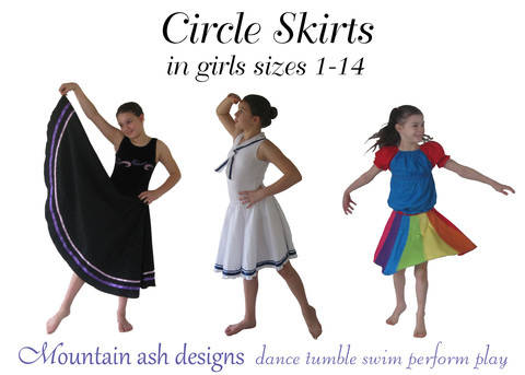 Download Circle Skirts Dance Skirts Sewing Pattern in Girls Sizes 1-14 immediately at Makerist