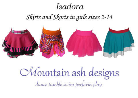 Download Isadora Dance skirts and Skorts Sewing Pattern in Girls Sizes 2-14 immediately at Makerist