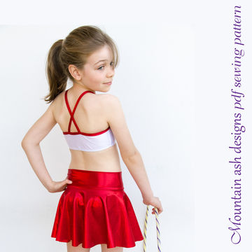 Download Phoebe Dance Skirts Sewing Pattern in Girls Sizes 2-14 - Sewing Patterns immediately at Makerist