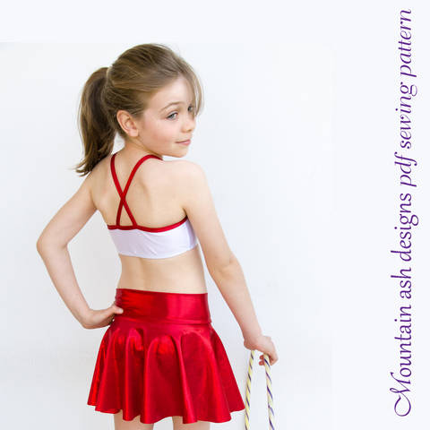 Download Phoebe Dance Skirts Sewing Pattern in Girls Sizes 2-14 immediately at Makerist
