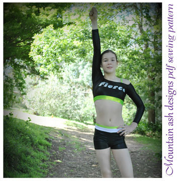 Download Cheer 5 Cheerleading Unifrom Tops in Girls Sizes 2-14 - Sewing Patterns immediately at Makerist
