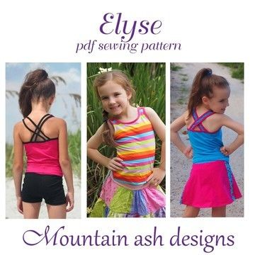 Download Elyse Singlet Top in Girls Sizes 2-14 - Sewing Patterns immediately at Makerist