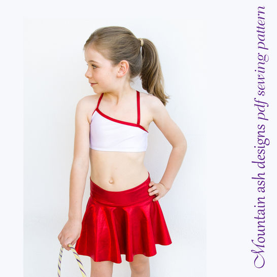 Download Gymnastics and Dance Tops 1 in Girls Sizes 2-14 - Sewing Patterns immediately at Makerist
